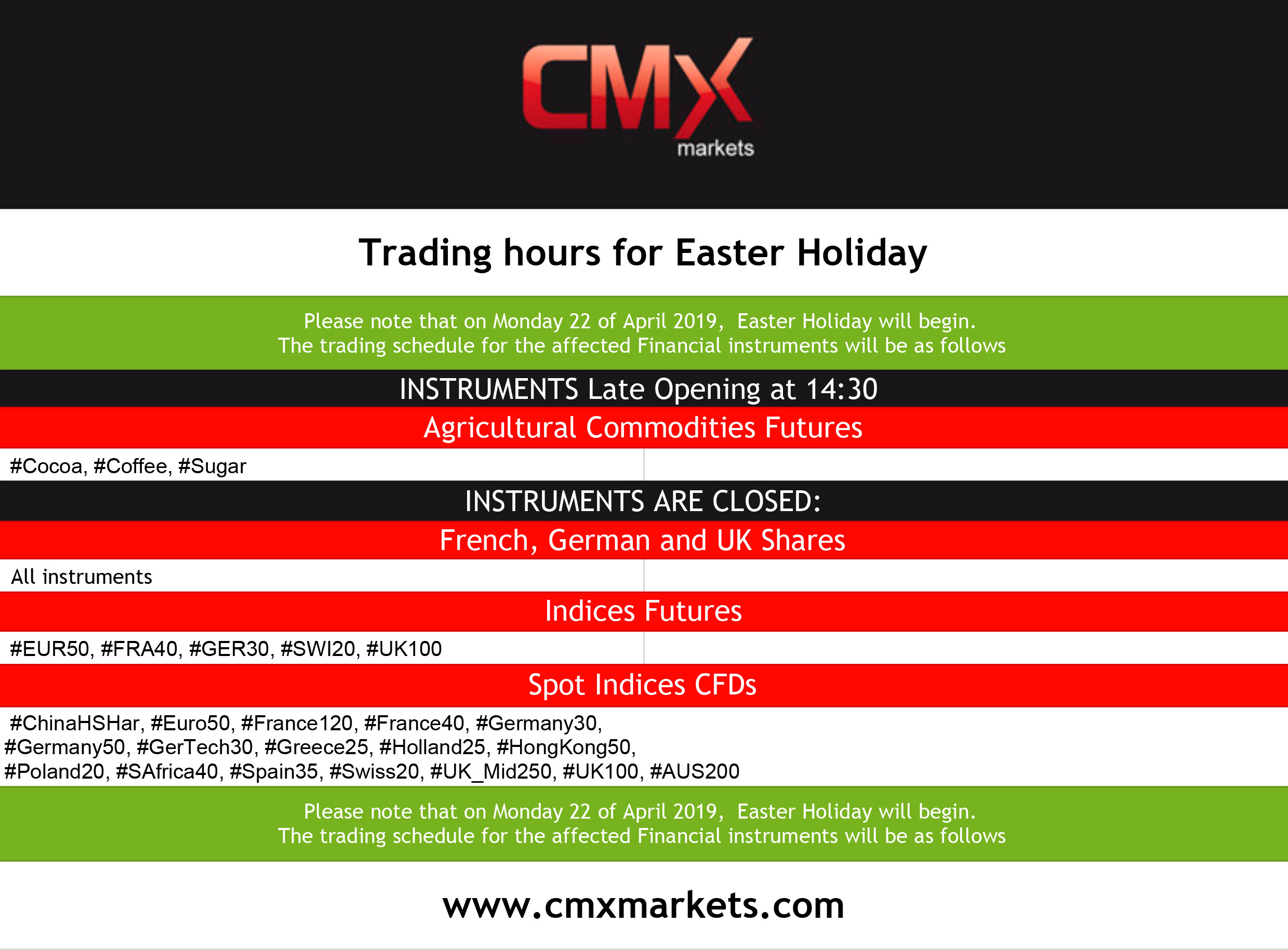 Markets Holidays – Online Forex Trading, Currency Trading, FX Broker